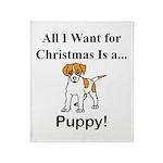 Christmas Puppy Throw Blanket