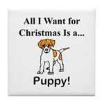 Christmas Puppy Tile Coaster