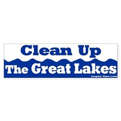 Clean Up Great Lakes Bumper Bumper Sticker