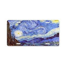 'The Starry Night' Van Gogh Aluminum License Plate