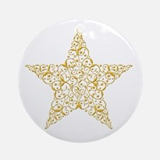 Beautiful Gold Star Ornament (Round)