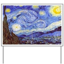 'The Starry Night' Van Gogh Yard Sign
