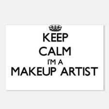 Keep calm I'm a Makeup Ar Postcards (Package of 8)