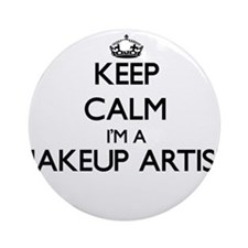 Keep calm I'm a Makeup Artist Ornament (Round)