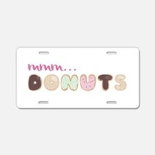 Mmm.. Donuts Aluminum License Plate