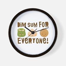 Dim Sum Everyone Wall Clock