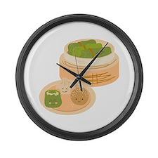 Dim Sum Border Large Wall Clock