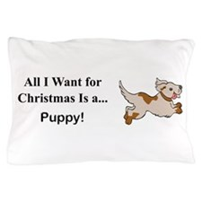 Christmas Puppy Pillow Case