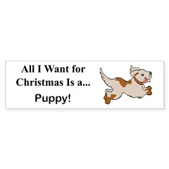 Christmas Puppy Sticker (Bumper 10 pk)