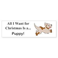 Christmas Puppy Sticker (Bumper)