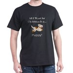 Christmas Puppy Dark T-Shirt