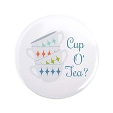 """Cup O Tea 3.5"""" Button (100 pack)"""