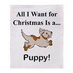 Christmas Puppy Throw Blanket