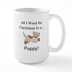 Christmas Puppy Large Mug