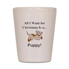 Christmas Puppy Shot Glass