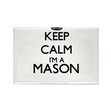 Keep calm I'm a Mason Magnets