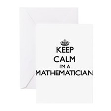 Keep calm I'm a Mathematician Greeting Cards