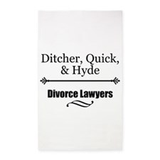 Divorce Lawyers 3'x5' Area Rug
