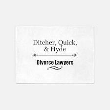 Divorce Lawyers 5'x7'Area Rug