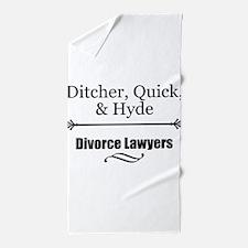 Divorce Lawyers Beach Towel