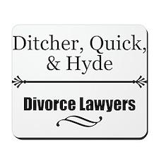 Divorce Lawyers Mousepad