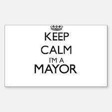 Keep calm I'm a Mayor Decal