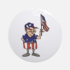 Old American Dude Ornament (Round)