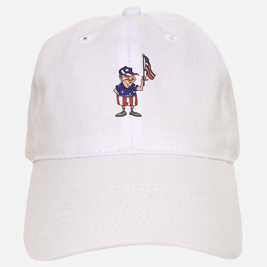 Old American Dude Baseball Baseball Cap