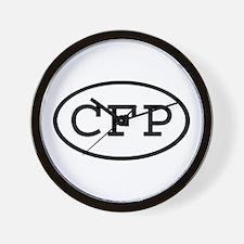 CFP Oval Wall Clock