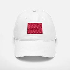 Wool cables in pink Baseball Baseball Cap