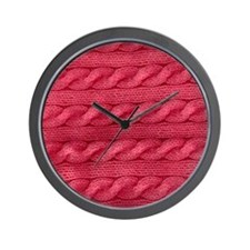 Wool cables in pink Wall Clock