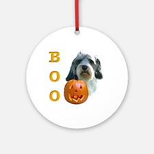 PBGV Boo Ornament (Round)