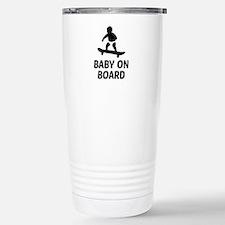 Baby On Board Pun Stainless Steel Travel Mug