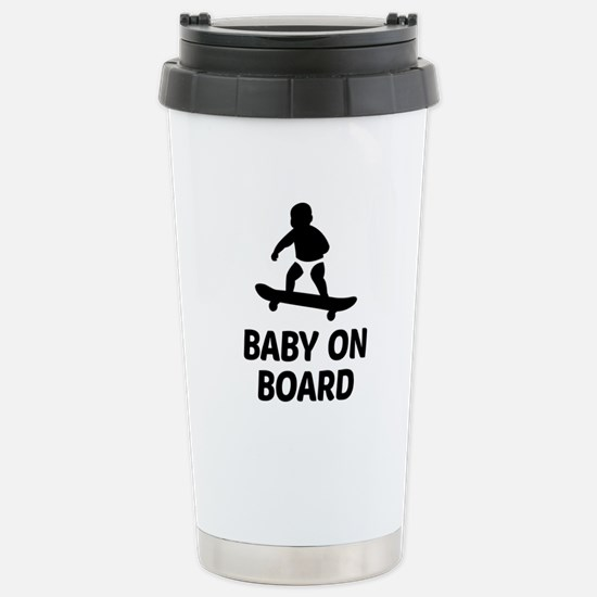 Baby On Board Pun Stainless Steel Travel Mug