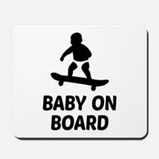 Baby On Board Pun Mousepad