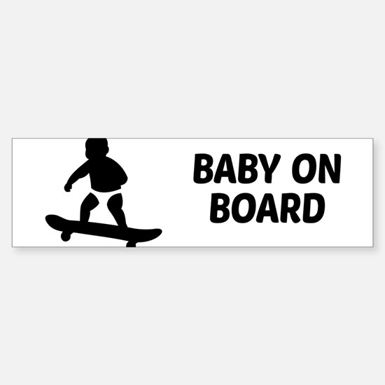 Baby On Board Pun Sticker (Bumper)