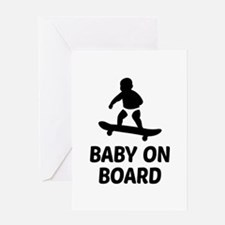 Baby On Board Pun Greeting Card