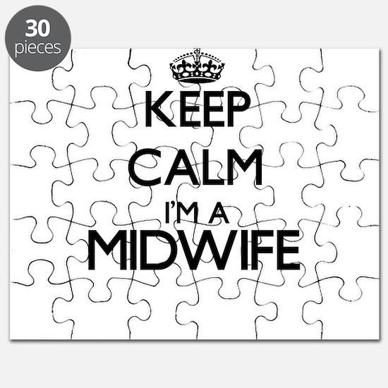 Keep calm I'm a Midwife Puzzle