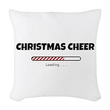 Christmas Cheer Loading Woven Throw Pillow