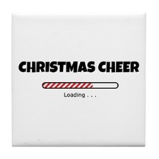 Christmas Cheer Loading Tile Coaster