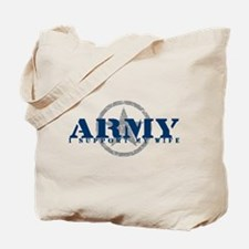 Army - I Support My Wife Tote Bag