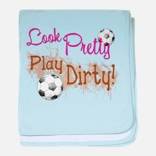 Dirty Soccer baby blanket