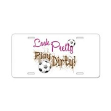 Dirty Soccer Aluminum License Plate