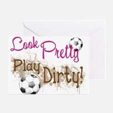 Dirty Soccer Greeting Cards