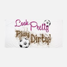 Dirty Soccer Beach Towel