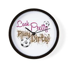 Dirty Soccer Wall Clock