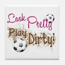 Dirty Soccer Tile Coaster