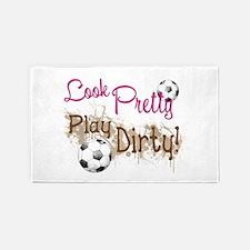 Dirty Soccer 3'x5' Area Rug