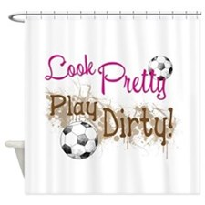 Dirty Soccer Shower Curtain