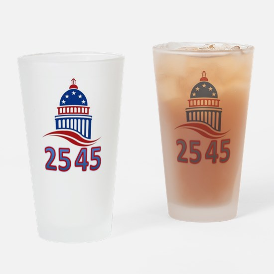 25th Amendment the 45th President Drinking Glass